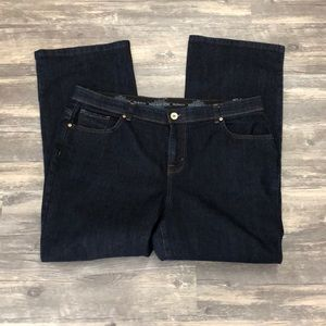 Style & Co dark wash boot jeans 18 p petite/short